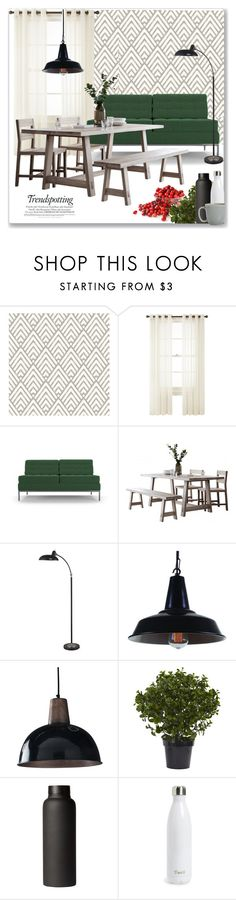 """Scandinavian dining"" by mariarty ❤ liked on Polyvore featuring interior, interiors, interior design, home, home decor, interior decorating, Royal Velvet, Joybird, Melissa and S'well"