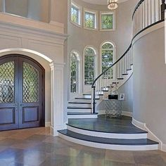 Top 80 besten Foyer Ideen – einzigartige Home Entryway Designs – 2019 - House ideas Dream House Interior, Dream Home Design, Home Interior Design, My Dream Home, Luxury Interior, Interior Stairs, Dream Homes, Luxury Homes Dream Houses, Beautiful Houses Interior