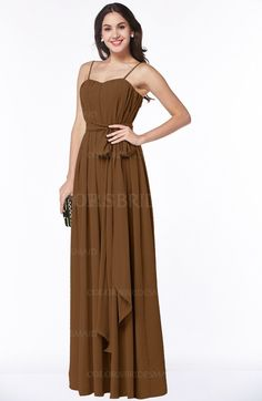 f3bd1b0f3e7 Brown Sexy A-line Zip up Chiffon Floor Length Sash Plus Size Bridesmaid  Dresses (