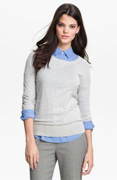 Halogen® Crewneck Sweater available at #Nordstrom