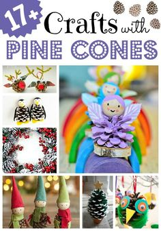 17+ Wonderful Crafts with Pine Cones. If you love Pine Cone DIYs, do take a peak and this great set of Pine Cone crafts for all seasons (but some lovely Christmas Pine Cone crafts too!! )