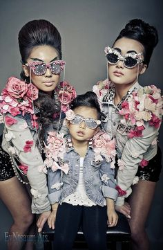 Kawaii Rose Lace Bow Rhinestone Sunglasses by PrettyRockGirl, $34.00