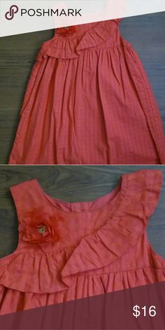 Coral ruffle dress Good condition Gymboree Dresses Casual