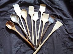 Cherry, Walnut and Maple cooking Spoons/Spatulas