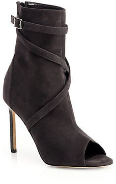 Manolo Blahnik Basella Suede Strappy Ankle Boots on shopstyle.com