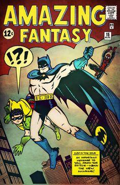 Batman and Robin vs. Spider-Man by Mike Medina