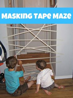 Masking Tape Maze