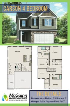 Are you looking for a 4 bedroom floor plan in South Carolina? Discover our Carson layout for your next custom home! This floor plan provides plenty of space and flexibility...