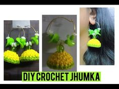 How to make a Crochet Jhumka. Dome Earrings | Jewelry Series | Craftziners # 57