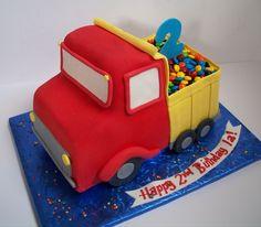 Pin Dump Truck Party Cake On Pinterest