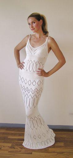 Exclusive Hand Knit Glamorous Mermade Dress by ilutegijaDesigns, $790.00
