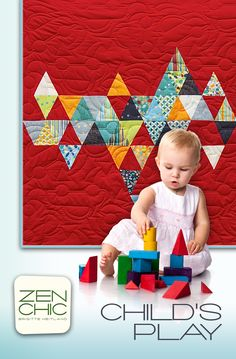 Child's play #zenchic modern #quiltpattern for kids now available as an instant PDF-Download here https://zenchic.dpdcart.com/cart/add?product_id=72354&method_id=74929
