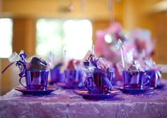 Whimsical Tea party. Add some of our Purple and Lilac Tutus for added fun.