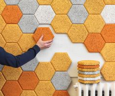 'Hexagon' acoustic tiles by Form Us With Love for Träullit (SE)