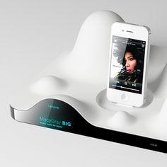 FLOW_Visual soundwave docking audio player Pop Design, Smart Design, Future Gadgets, Audio Player, Sound Waves, Design Reference, Industrial Design, Kitchen Design, Cool Designs