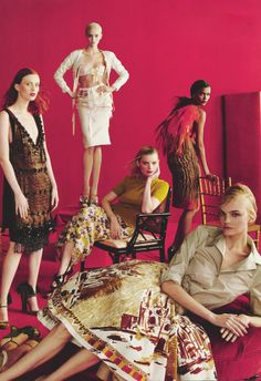 Caroline Trentini, Karen Elson,Abbey Lee Kershaw, Guinevere Van Seenus & Liya Kebede/Vogue US May 2012
