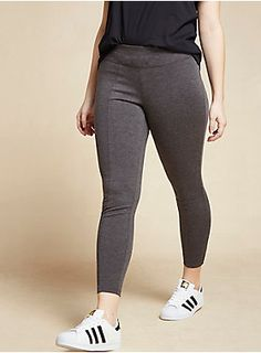 "<div>It's almost too good to be true: a pull on pant that <i>feels </i>like a legging, but <i>looks </i>like something you could wear to work. Yeah we're that good. This charcoal grey ponte pant looks like a skinny pant with a tapered leg, but feels like you're chilling on the couch with a thicker pull on waistband.</div><div><ul><li style=""list-style-position: inside !important; list-style-type: disc !important"">29"" inseam</li><li style=""list-style-position: inside !important…"