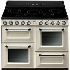 Buy Smeg Victoria Traditional Electric Range Cooker With Induction Hob Cream from Appliances Direct - the UK's leading online appliance specialist Electric Range Cookers, Dual Fuel Range Cookers, Electric Oven, Piano Design, Küchen Design, Interior Design, House Design, Victoria, Ovens