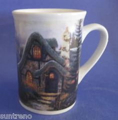 Thomas Kinkade Havencrest Cottage Sweetheart Cottage III Coffee Mug 2003