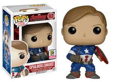 The Avengers: Age of Ultron, Captain America unmasked Pop! figure by Funko, 2015 San Diego Comic Con exclusive
