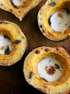 Acorn Squash with Sage-Cream Sauce from Completely Delicious. This sounds amazing!