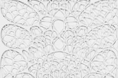 abstract 3d voronoi organic structure on white background
