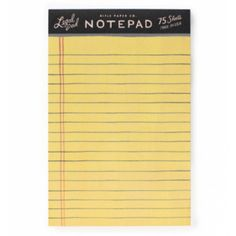 Rifle Paper Co. Legal Notepad ($9.00) ❤ liked on Polyvore featuring home, home decor and stationery
