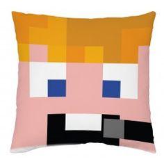 ZsDav fej - díszpárna Hobbies, Throw Pillows, Youtube, Minecraft, Store, Toss Pillows, Cushions, Larger, Decorative Pillows