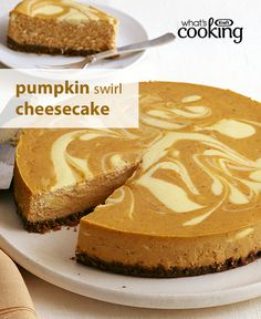 One of our best-loved cheesecake recipes, discover what makes this Pumpkin Swirl Cheesecake a fan favourite. Could it be its lovely swirl? Is it the delightful pumpkin spice flavour? Is it the smooth and creamy texture? Make it for your #Thanksgiving feast and find out. Tap or click photo for recipe.