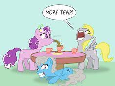 Tea Party by professor-ponyarity.deviantart.com on @deviantART