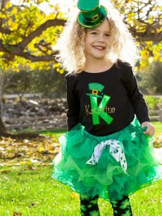 Irish Cutie Applique Shirt-st pats clothing, infant, toddler, girls, st patricks day clothing, st patties day outfits, personalized st. pats tee, personalized st pats applique t shirts, green tutus, chiffon tutu, green tutu, holiday clothing, holiday tutus
