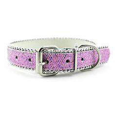 Ajustável PU Leather Beads Decorado Coleira para cães Animais (cores sortidas) – BRL R$ 18,85