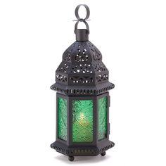 Green Glass Moroccan Lantern