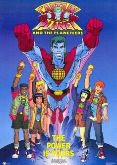 <3 Captain Planet <3 My favorite characters were the blonde girl and the red-head guy! They were cute together! The theme song is super catchy too! :')<3