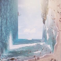 Inception-Like Landscape Photos That Defy The Laws Of Gravity By Indonesian Artist (10 pics): http://www.boredpanda.com/surreal-landscape-photo-manipulations-jati-putra-pratama/