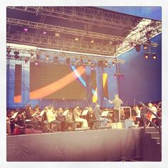 Toronto Symphony Orchestra preparing for tonight's show at the Luminato Festival, June 17 - Tweeted by @semco