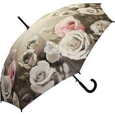 Full Size Antique Rose Umbrella / Raindrops