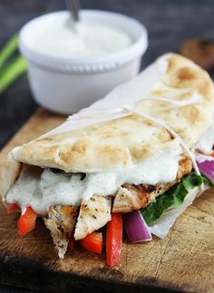 crave-lifestyle-co | Healthy Bod Healthy Budget - 10 Things to Pack for Lunch - chicken gyros with tzatziki