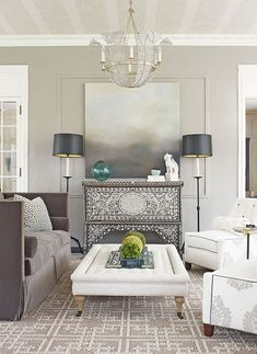 Neutrals (black, gray, white, & brown) are basic to the decorator's tool kit. All-neutral schemes fall in & out of fashion, but their virtue lies in their flexibility: Add color to liven things up; subtract it to calm things down. Black is best used in small doses as an accent. Indeed, some experts maintain that every room needs a touch of black to ground the color scheme and give it depth.