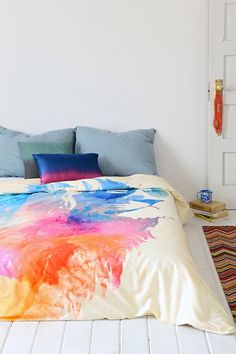 Robert Farkas For DENY Sunny Leo Duvet Cover- Looks like someone massacred a pack of my little ponies. Duvet Covers Urban Outfitters, My New Room, My Dream Home, Dream Life, Luxury Bedding, Decoration, Bedroom Decor, Cosy Bedroom, Bedroom Ideas
