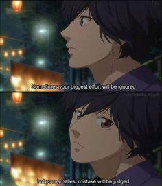 Ao haru ride - this is true Sad Anime Quotes, Manga Quotes, Cartoon Quotes, Movie Quotes, Life Quotes, Me Anime, Anime Life, Anime Manga, Anime Guys
