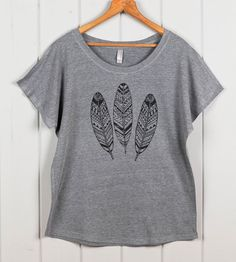 Women's Feather Shirt Loose Fitting Sexy T Shirt by Feather4Arrow, $25.00
