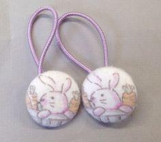 1 1/8 Size 45 Lavender/White/Orange Bunny Rabbit with by RatDogInk, $6.00