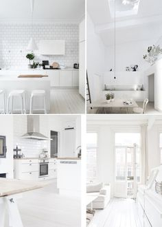 Popular Shades of White Image credits: Top let - Pinterest | Top right - bloglovin' | Bottom - pinterest