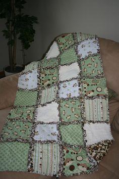 Baby Rag Quilt by mpeechatka on Etsy, via Etsy.