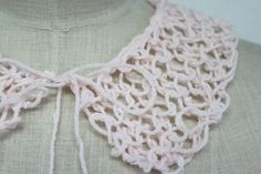 Pastel Pink Wool Knitted Collar by strawberryfieldss on Etsy, £12.00