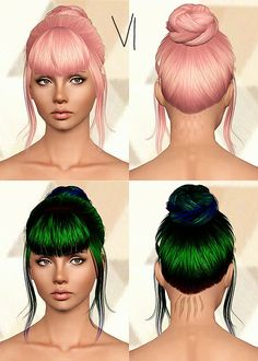 Alesso`s Kerli hairstyle retextured by Chantel for Sims 3 - Sims Hairs - http://simshairs.com/alessos-kerli-hairstyle-retextured-chantel/