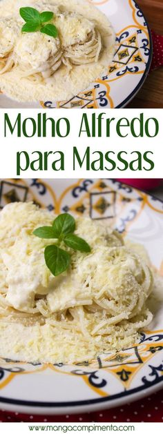Trendy Ideas for pasta recipes alfredo sauce Molho Alfredo, Salsa Alfredo, Pasta With Alfredo Sauce, Alfredo Recipe, Easy Pasta Dinner Recipes, Best Pasta Recipes, No Salt Recipes, Vegetarian Recipes, Sauce Recipes