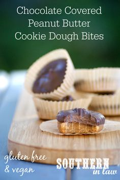 Vegan Chocolate Covered Peanut Butter Cookie Dough Bites Recipe - an easy…
