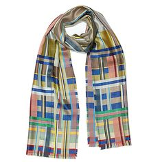 WALLACE & SEWELL SILK SCARF- Distinguished by their striking woven fabrics…